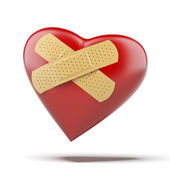 Heart with a bandage — Stock Photo