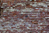Red brick wall texture grunge background — Stock Photo