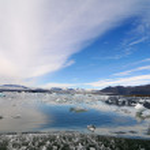 Ice valley. Iceland — Stock Photo