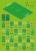 Set for football-soccer isometric infographics. — Stock Vector