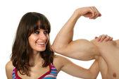 Flexion des biceps — Photo