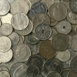 Silver Coins Texture - Stock Photo
