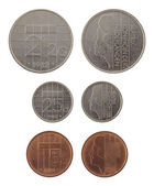 Old Dutch Coins Isolated on White — Stock Photo