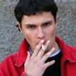 Stock Photo: Smoking Teenager