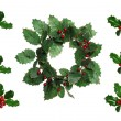 Stock Photo: Christmas Wreath