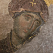 Byzantine Mosaic of the Virgin - Stok fotoğraf