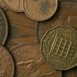 Old UK Coins Texture - ストック写真