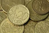 Golden Coins Texture — Stock Photo