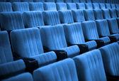Boş sandalyeler. mavi tonu — Stok fotoğraf