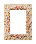 Roses-and-Pearls Frame — Stock Photo