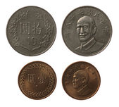 New Taiwan Coins Isolated on White — Stock Photo