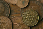 Old UK Coins Texture — Stock Photo