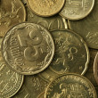 Golden Coins Texture - Stock Photo