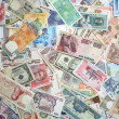 Exotic Banknotes Texture — Stock Photo