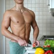 Sexy Man at the Kitchen — Stock Photo #13494586