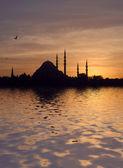 Suleymaniye Mosque at Sunset — Stock Photo