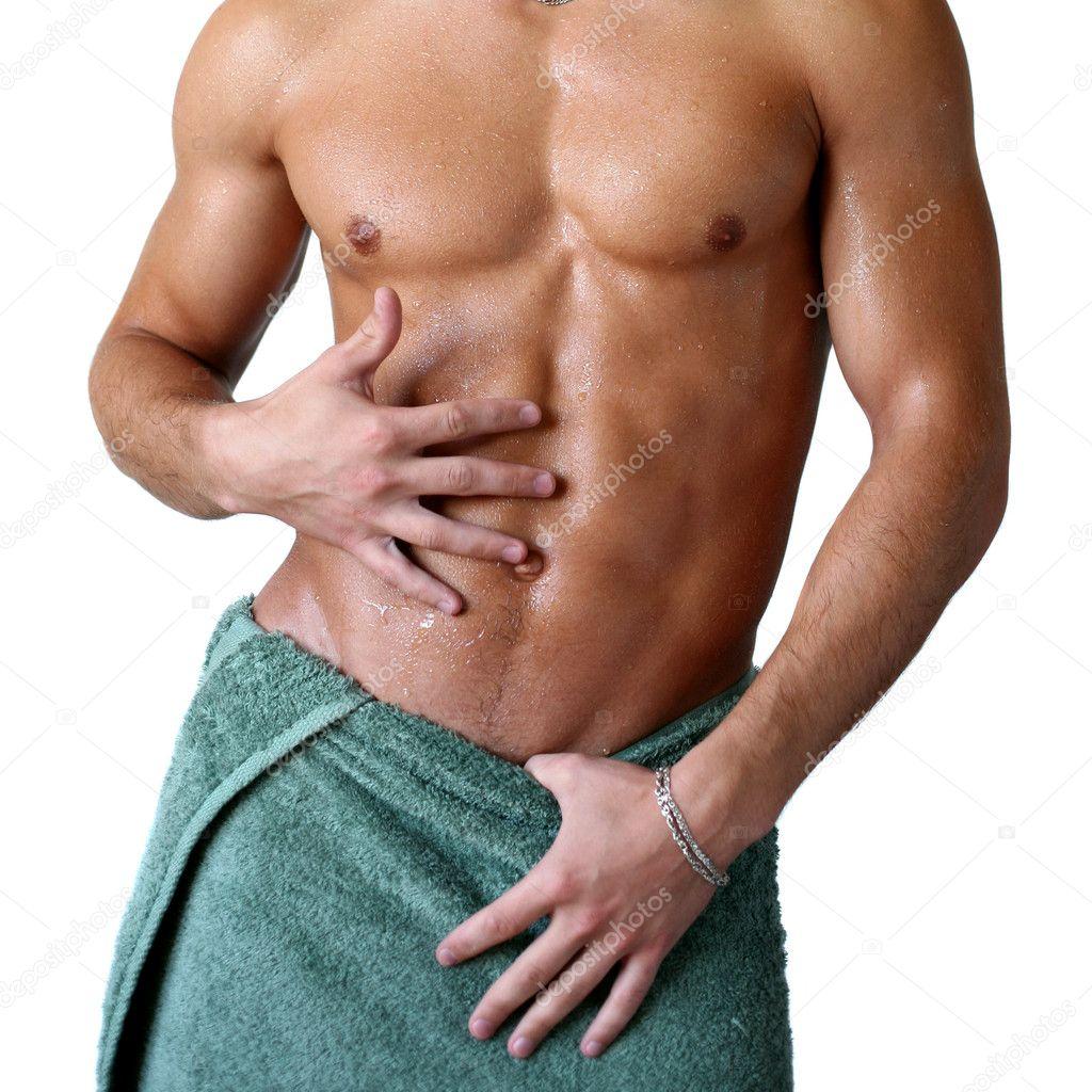 Смотреть мускулистый в полотенце на кровати 6 фотография