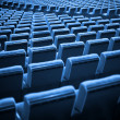 Empty Chairs. Blue Tone — Stock Photo #13720923