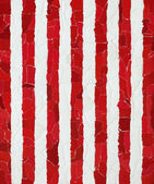 Red and white vertical strips — 图库照片