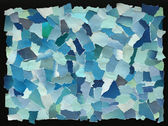 Sky blue texture of torn paper — Stock Photo