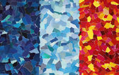 Colourful texture made from torn paper — Stock Photo