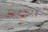 在阿尔塔,挪威岩画 — 图库照片