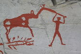 петроглифы в альте, норвегия — Стоковое фото