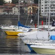 Boats in harbour — Stock Photo