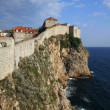 图库照片: Dubrovnik city walls