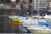 Boats in harbour — Stock fotografie