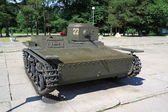 T-38 Russian light tank, WW2 — 图库照片