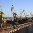 Стоковое фото: Piers in St. Peterburg, Russia