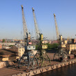 Piers in St. Peterburg, Russia — Stockfoto