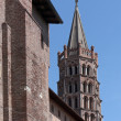 Basilique of saint sernin - Stock Photo