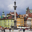 Sigismund column in warsaw castle square in old town — ストック写真