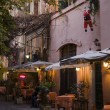 Bar and restaurants on street in trastevere zone, Rome. — Photo #14789825