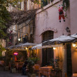 Stockfoto: Bar and restaurants on street in trastevere zone, Rome.