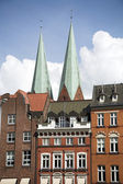 Beatiful view of the city of Lubeck, Germany. — Stock Photo