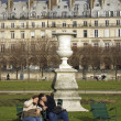 Couple in jardin des tuileries, paris — Stock Photo #14797689