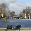 Jardin des tuileries, paris — Stock Photo