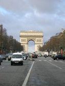 Avenue des champs elysees — Stock Photo