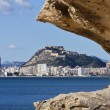 Alicante city view with Santa Barbara castle — Stock Photo