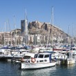 Alicante city marina — Stock Photo