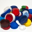 Plastic lids — Stock Photo