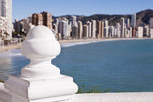 Balcony in front of Benidorm — Stock Photo