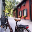Stock Photo: Bicycle in Swedish village