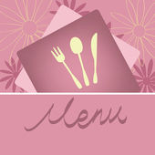 Restaurant menu concept design — Stock Vector