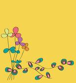 Flower card pattern design — Stock Vector