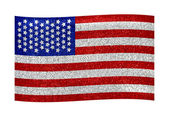 Vintage American Flag on White Background — Stock Photo