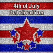 4th of July Celebration Design — Stock Photo